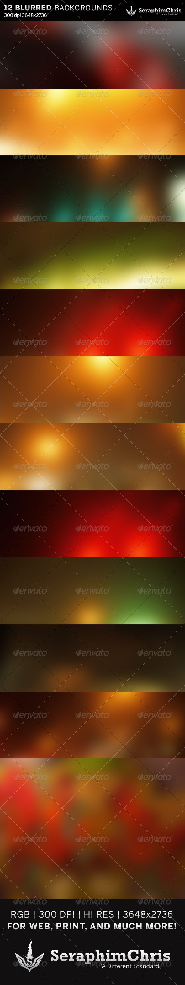 12 Abstract Blurred HD Backgrounds - Backgrounds Graphics
