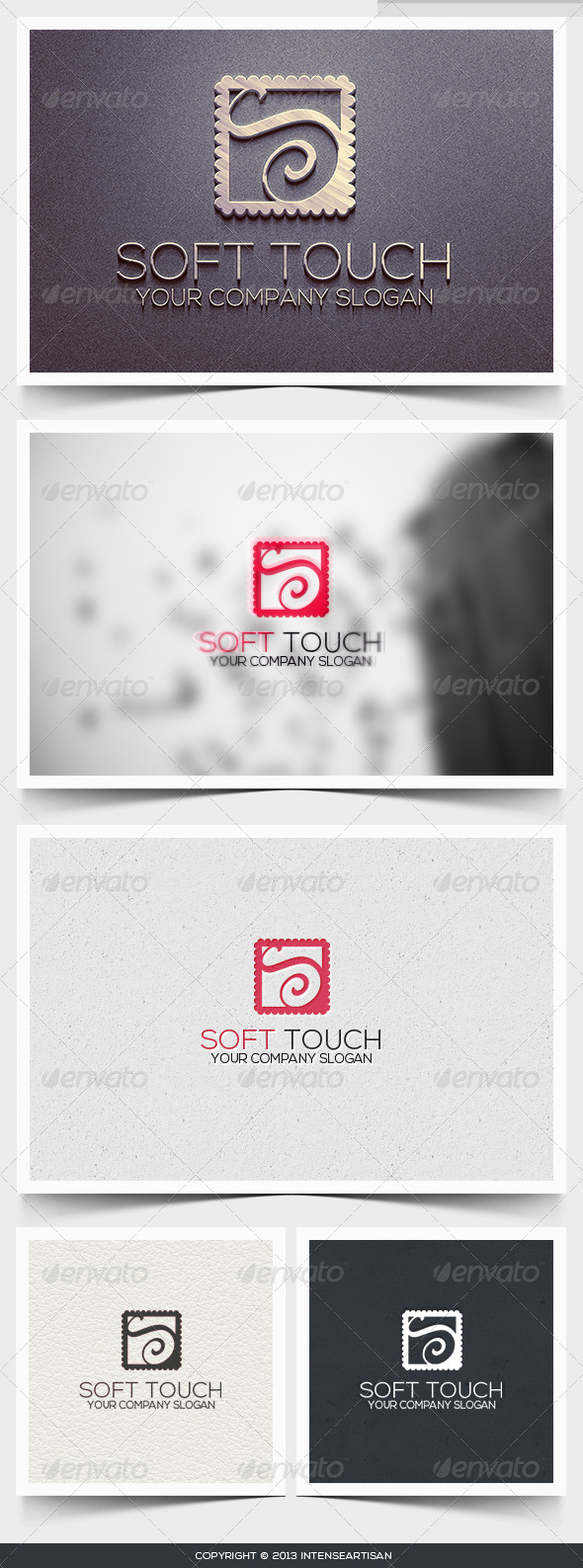 Soft Touch Logo Template - Letters Logo Templates