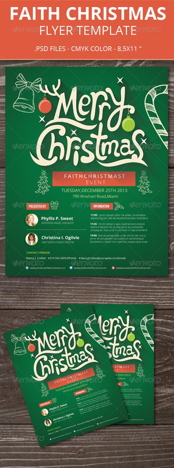 Faith Christmas Flyer - Holidays Events