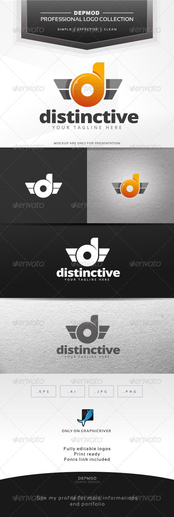 Distinctive Logo - Letters Logo Templates