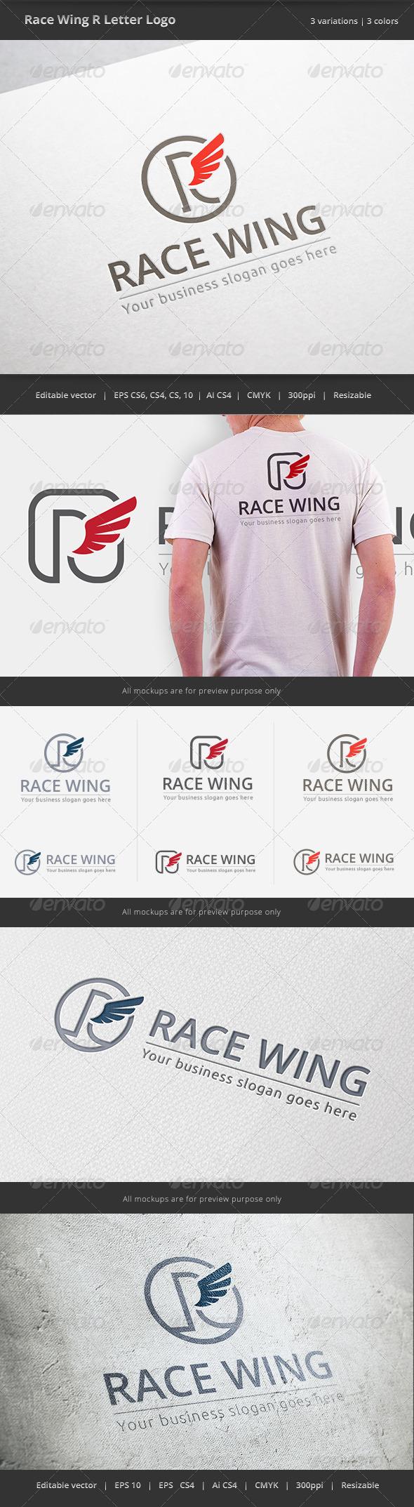 Race Wing R Letter Logo - Letters Logo Templates