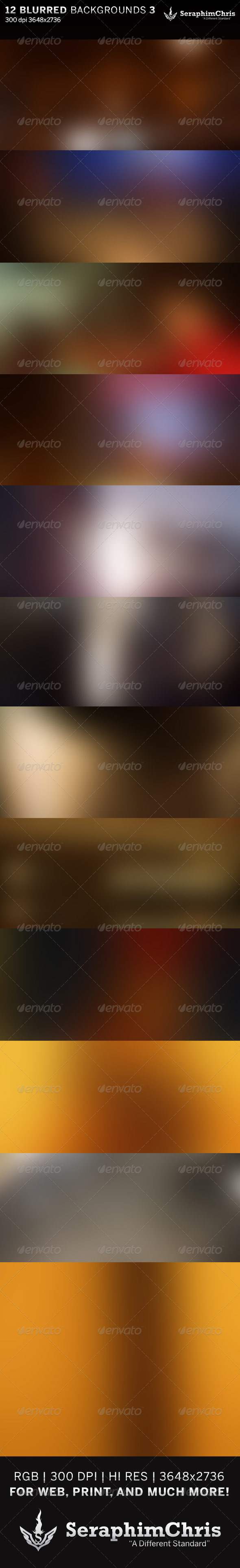 12 Abstract Blurred HD Backgrounds Set 3 - Backgrounds Graphics