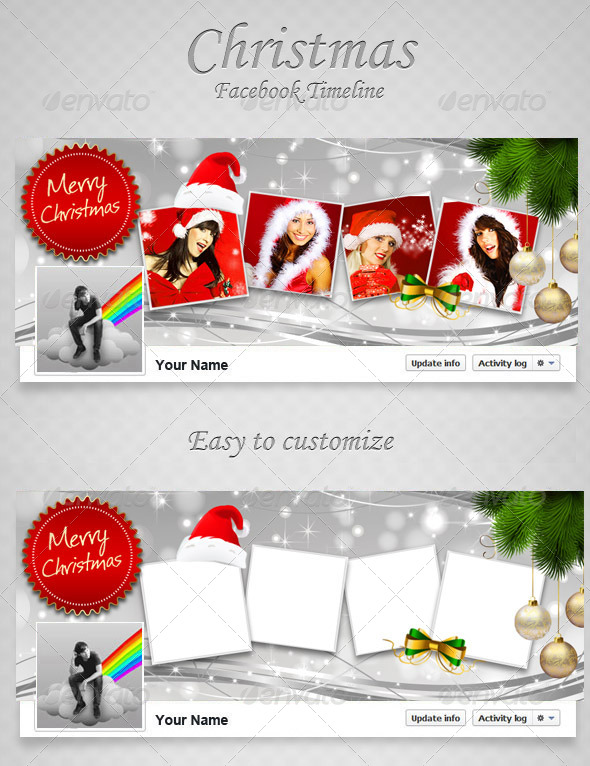 Christmas FB Timeline V9 - Facebook Timeline Covers Social Media