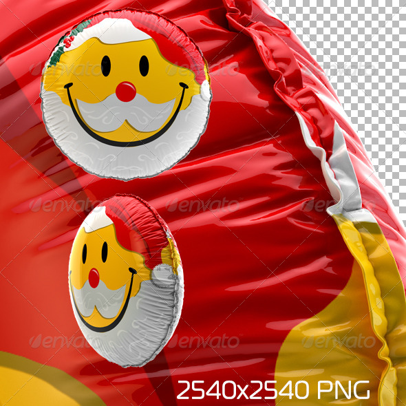 Smiley Balloon Christmas - Objects 3D Renders