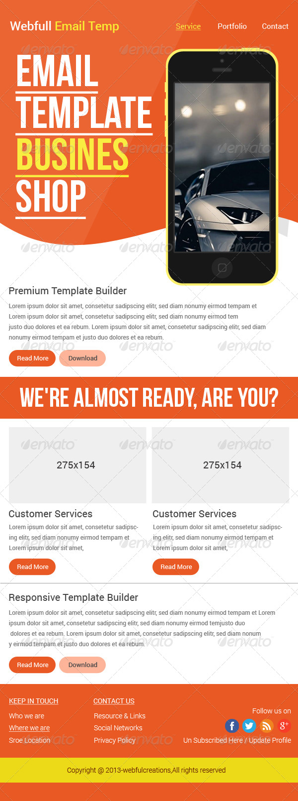 Business Email Template By TheWebDesigns GraphicRiver - E news template