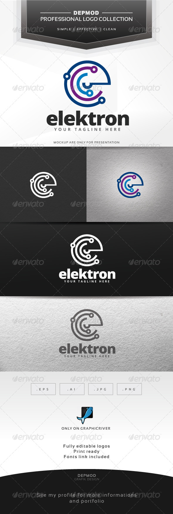 Elektron Logo - Abstract Logo Templates