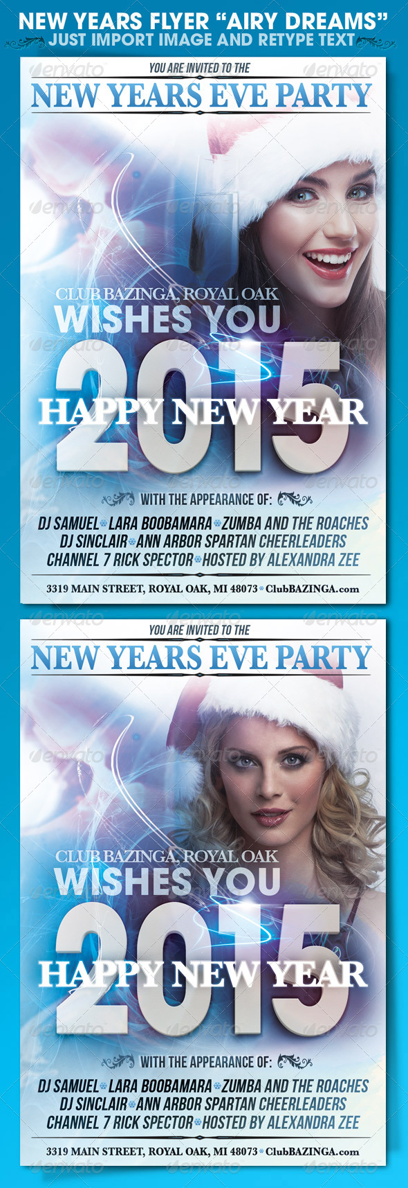 New Years Eve Flyer - Holidays Events