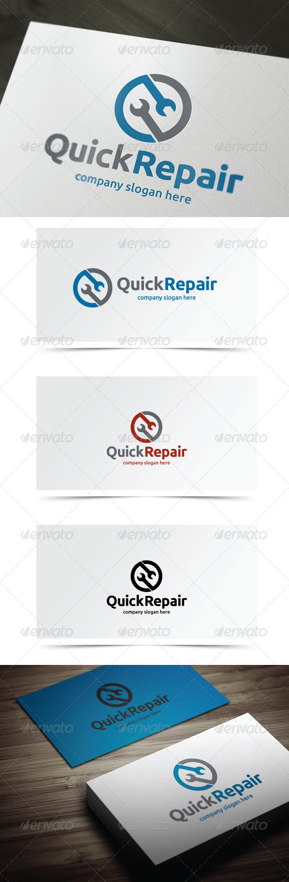 Quick Repair - Objects Logo Templates