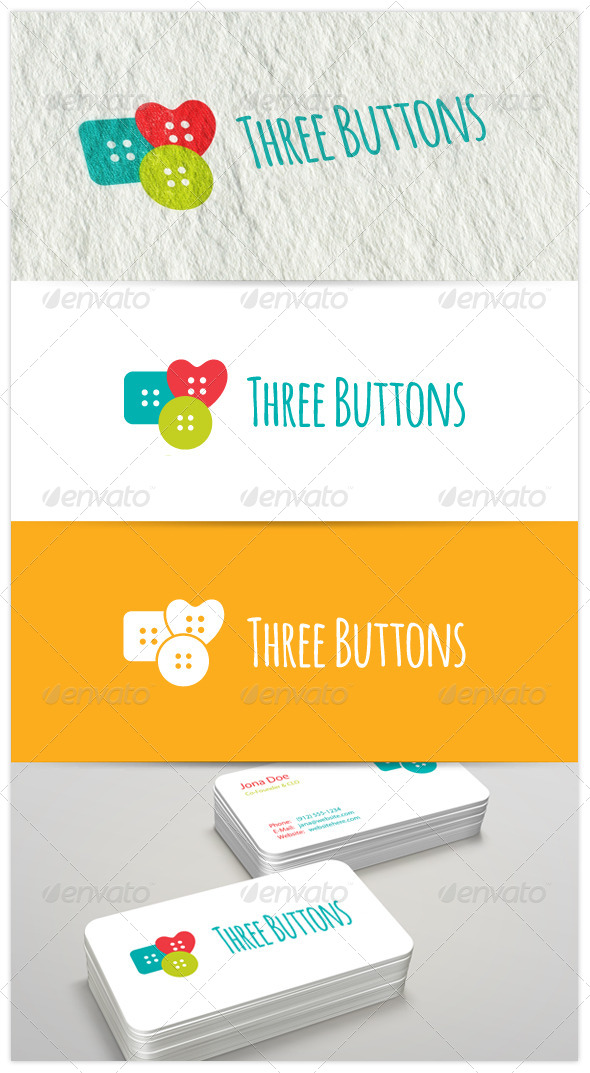Three Buttons Logo - Objects Logo Templates