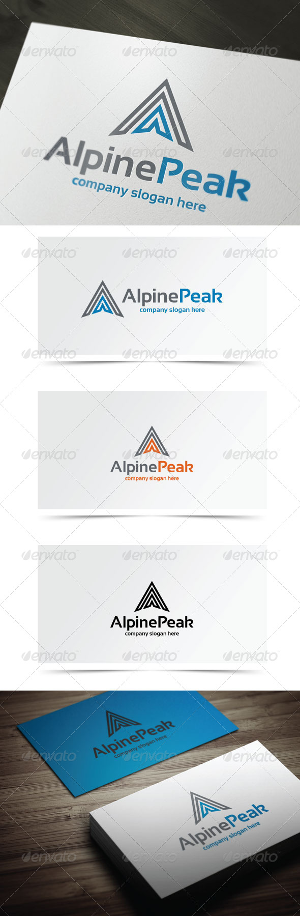 Alpine Peak - Letters Logo Templates