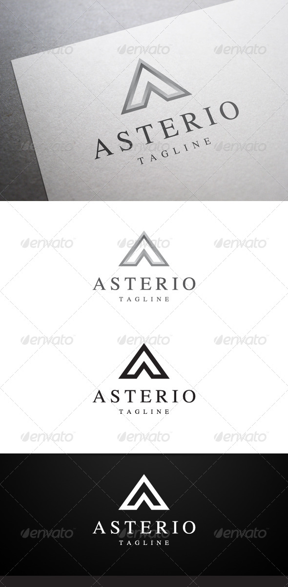 Asterio A Letter Logo - Letters Logo Templates
