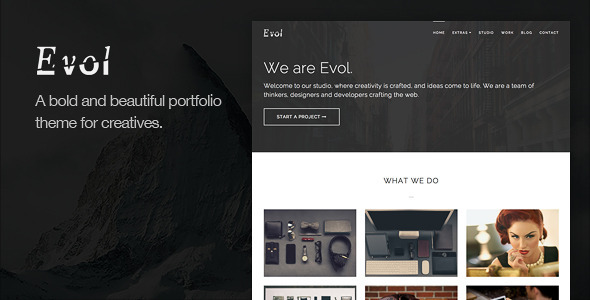 Evol – Agency & Freelance Portfolio Theme