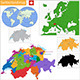 Swiss Confederation Map - GraphicRiver Item for Sale
