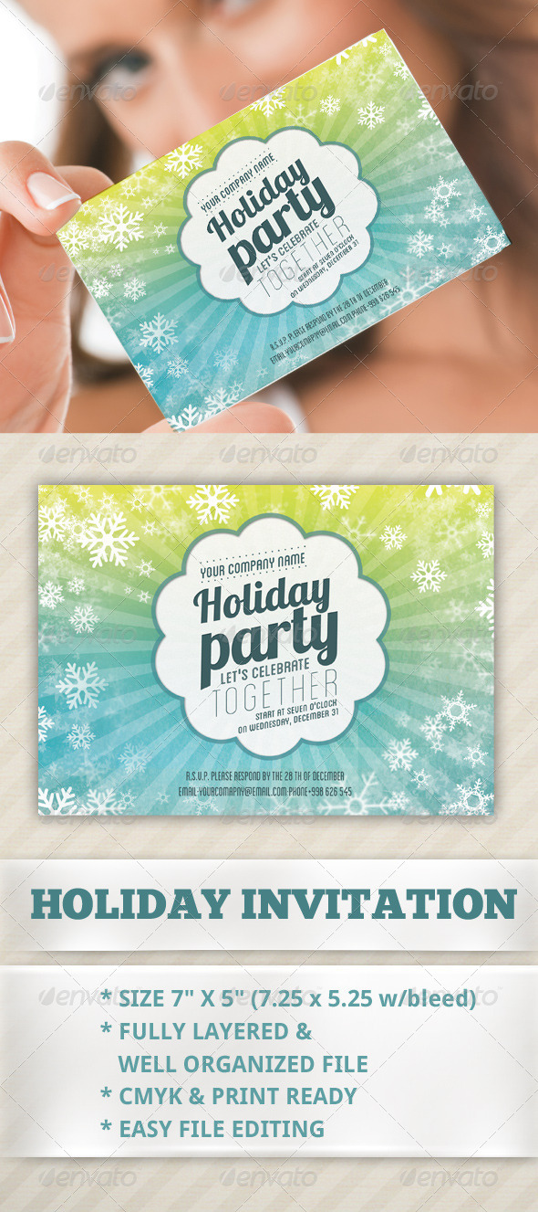 Holiday Invitation Card - Invitations Cards & Invites