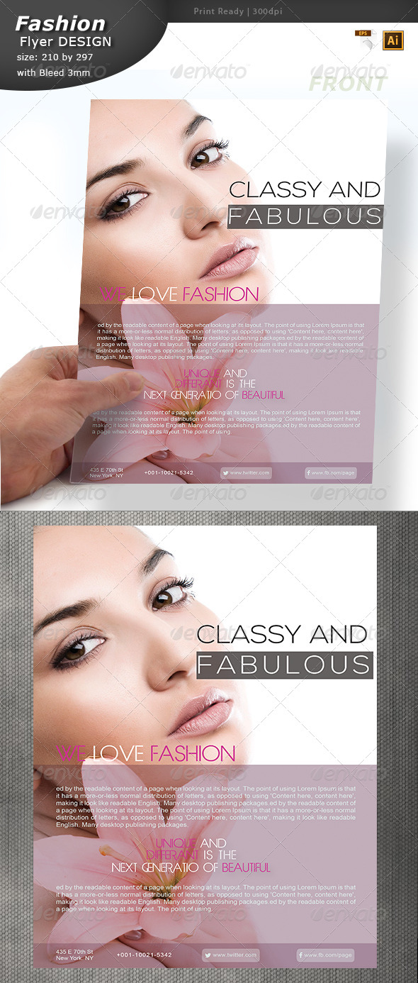 Fashion industry Flyer Design  - Commerce Flyers