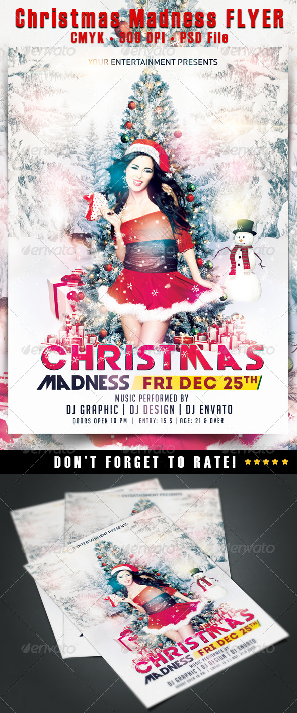 Christmas Madness Flyer - Events Flyers