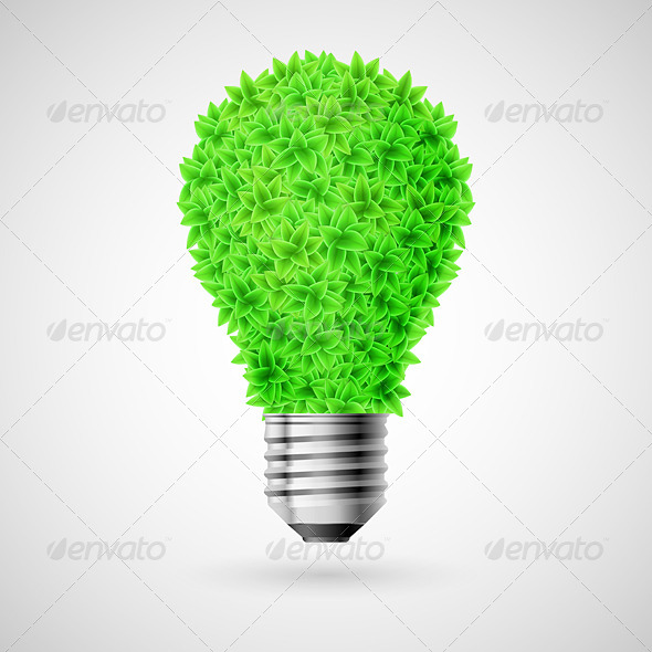 Green Bulb. - Nature Conceptual