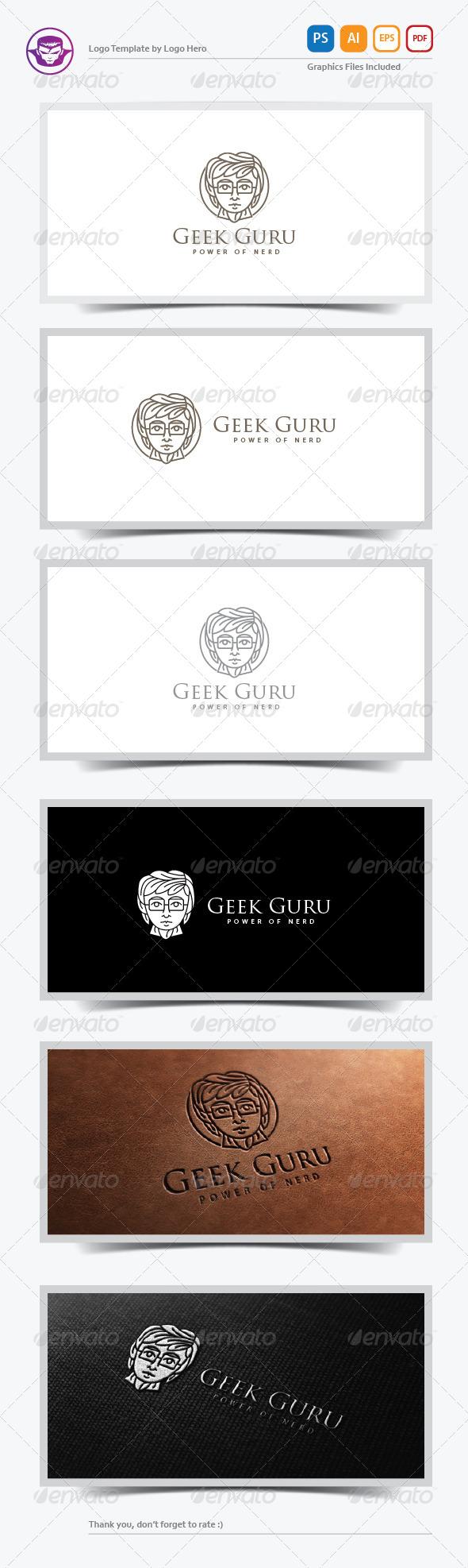 Geek Guru Logo Template - Humans Logo Templates