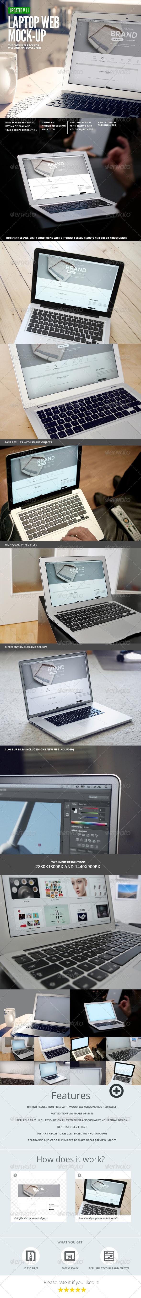 Laptop | Web App Mock-Up - Laptop Displays