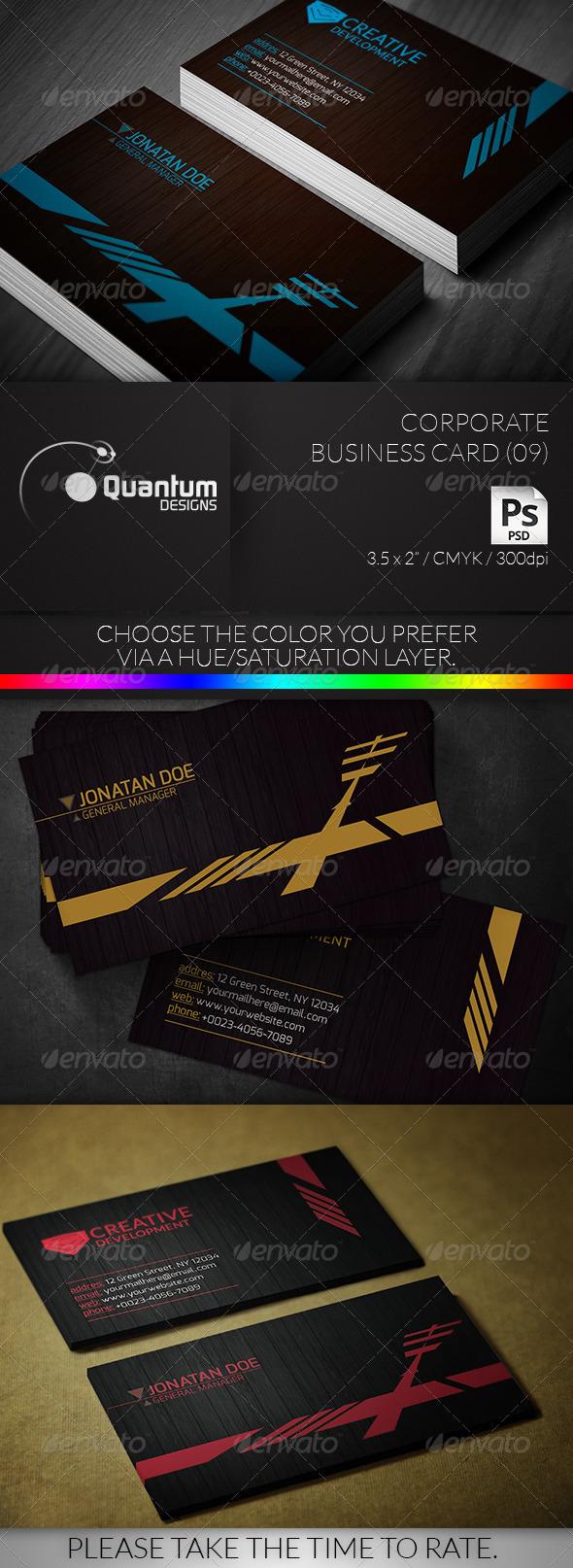 Corporate Business Card 09 - Corporate Business Cards