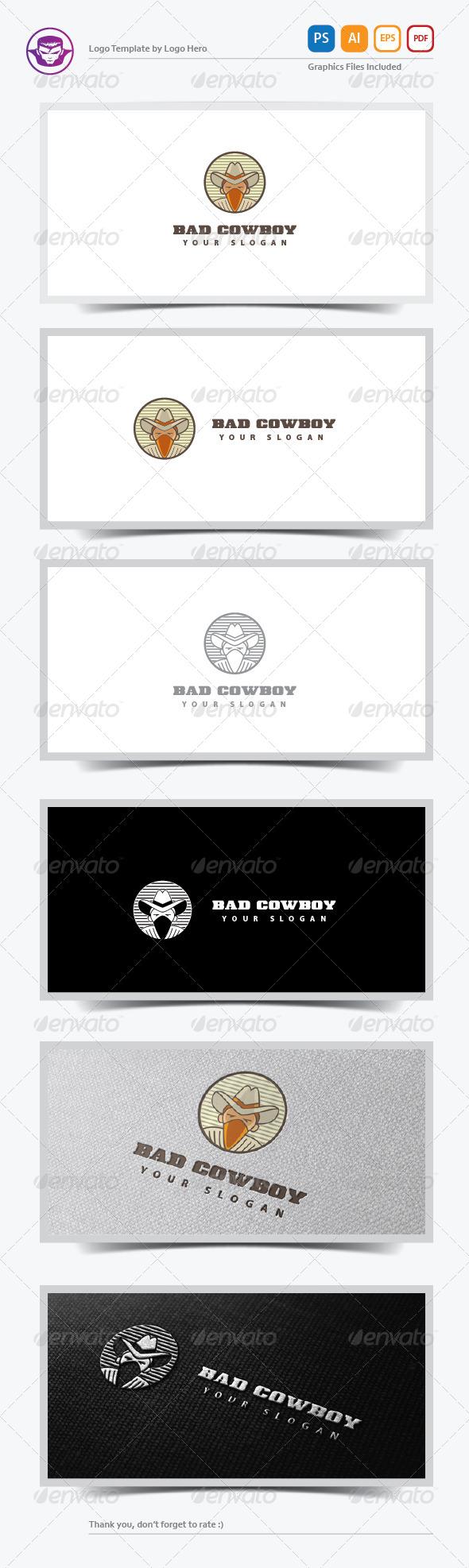 Bad Cowboy Logo Template - Humans Logo Templates