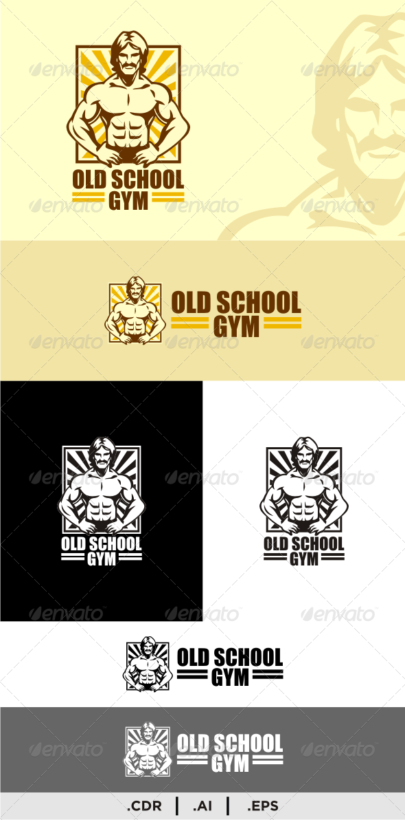Old School Gym - Logo Templates