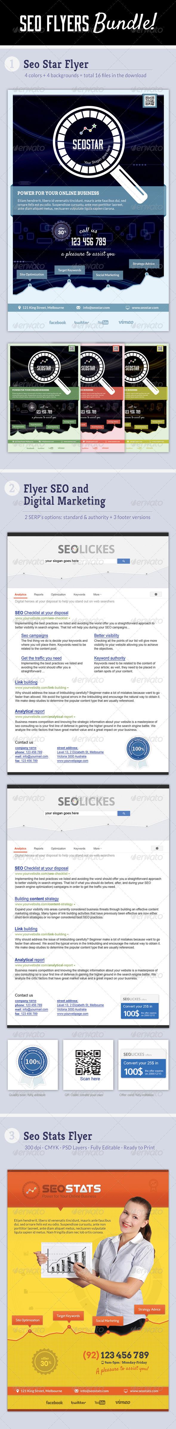 Seo Flyers Bundle - Corporate Flyers