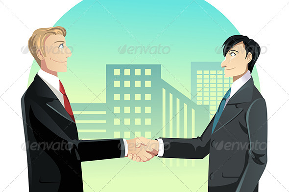 Businessmen Shaking Hands - Business Conceptual