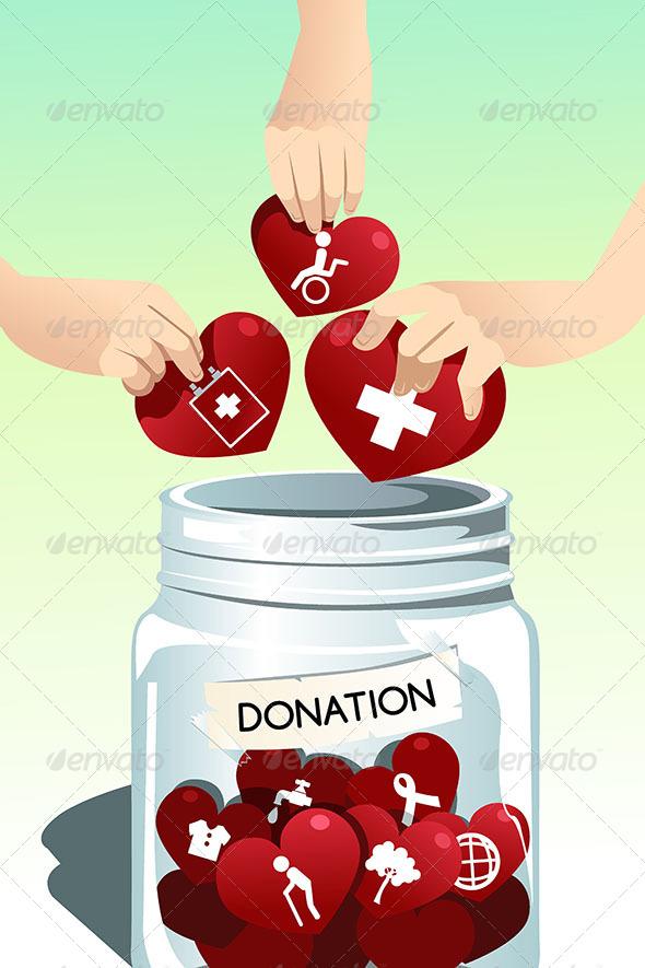 Making Donation - Conceptual Vectors
