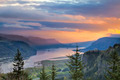 Sunrise Over Crown Point at Columbia River Gorge - PhotoDune Item for Sale
