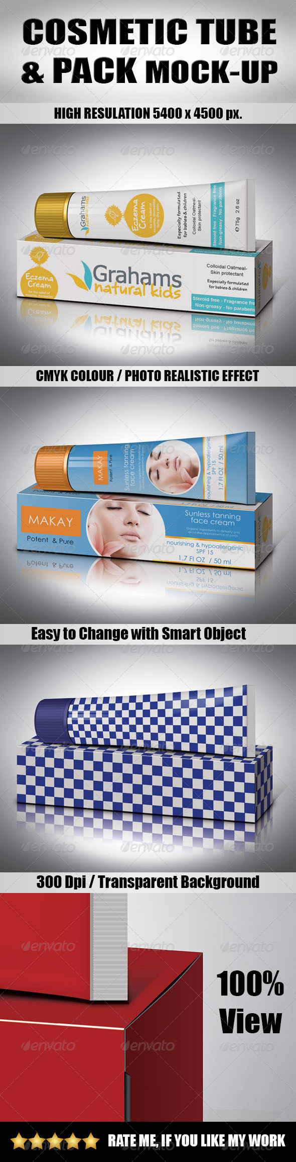 Cosmetic Tube & Pack Mock-Up - Product Mock-Ups Graphics