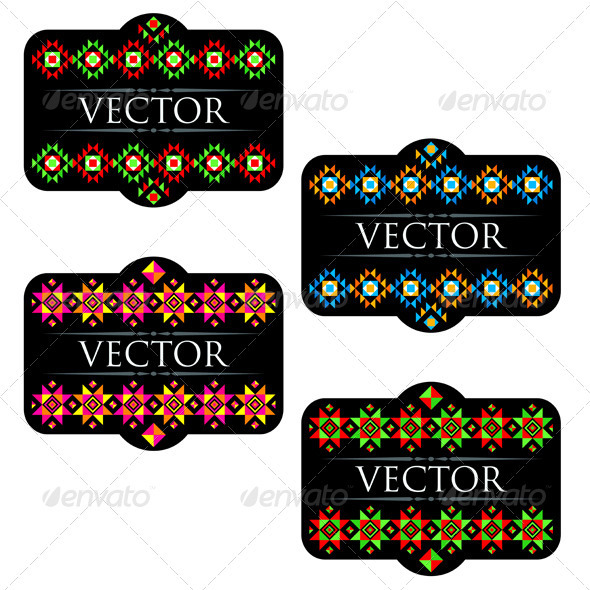 Traditional Mexican Product Labels Set - Decorative Vectors
