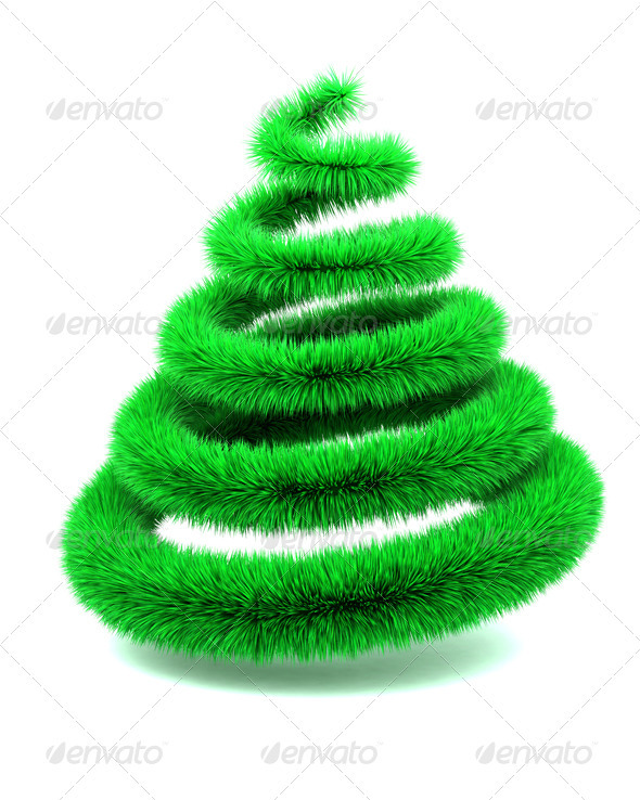Furry Christmas Tree - 3D Backgrounds