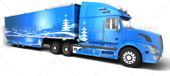 Christmas Truck - 3D Backgrounds