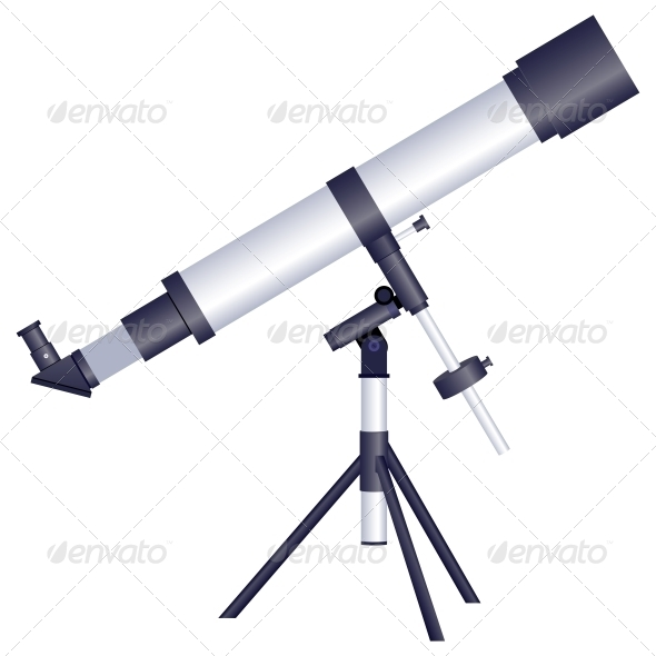 Telescope on a White Background - Miscellaneous Conceptual