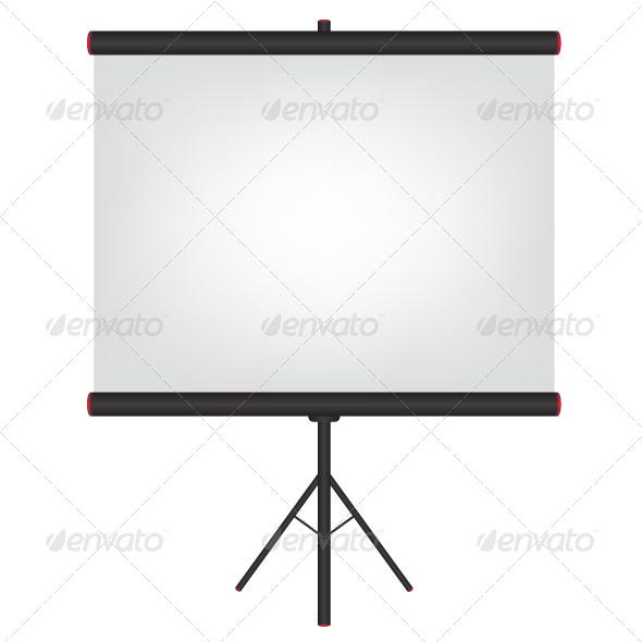 Projector Screen Black Illustration - Objects Vectors