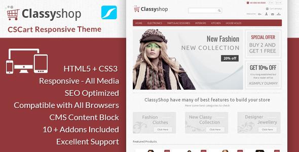ClassyShop – CS Cart Responsive Theme