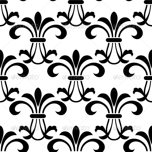 Seamless Pattern with Decorative Floral Elements - Patterns Decorative