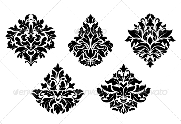 Vintage Floral Design Elements - Patterns Decorative