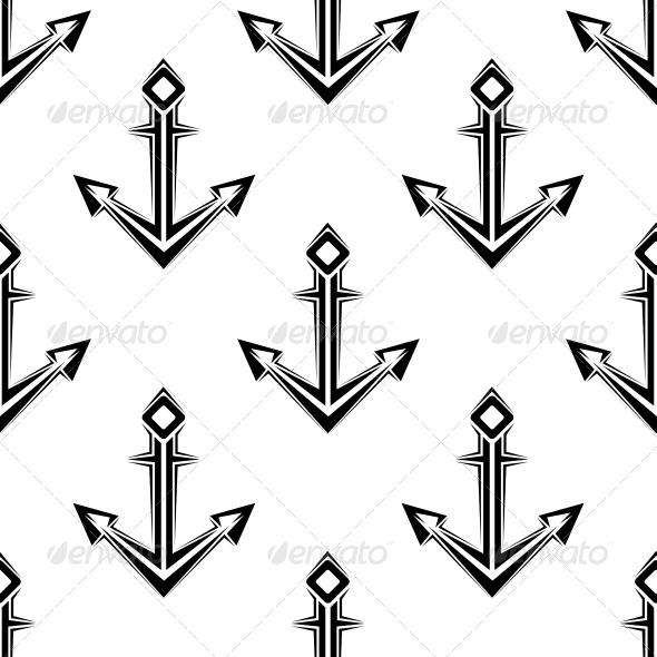 Sea Anchor Seamless Pattern - Patterns Decorative