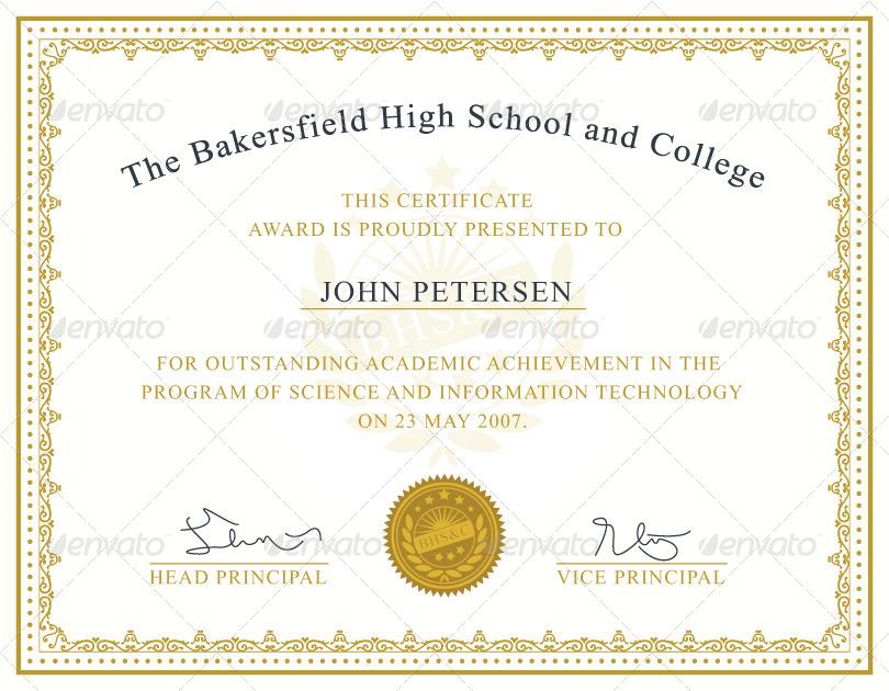 Achievement Certificate Template By Nasirktk