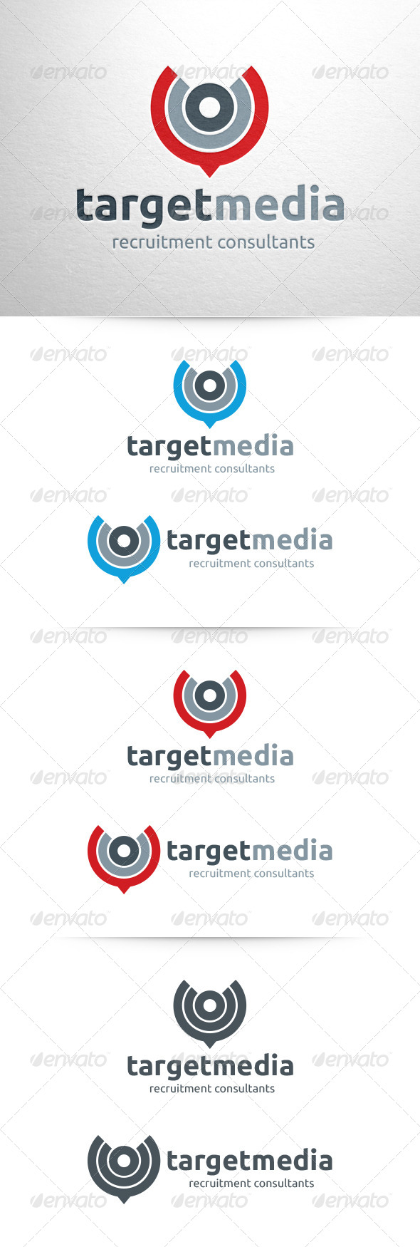 Target Media Logo Template - Abstract Logo Templates