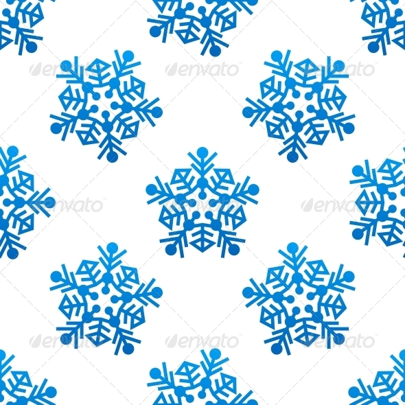 Crystal and snowflakes Seamless Pattern Background - Patterns Decorative