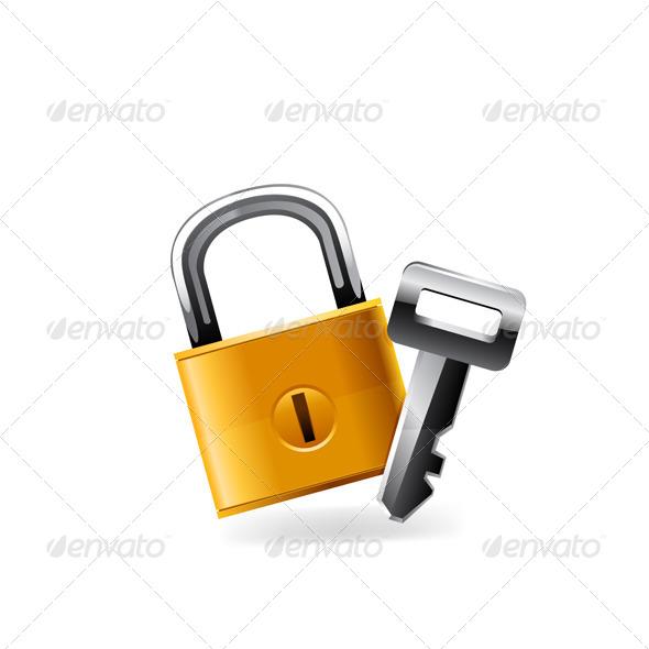 Web Lock Icon - Technology Conceptual