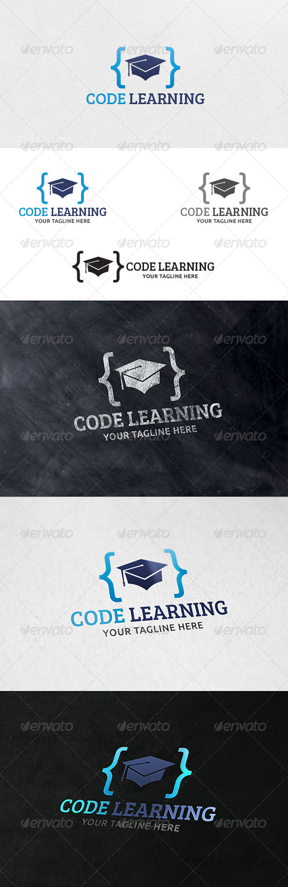 Code Learning - Logo Template - Symbols Logo Templates