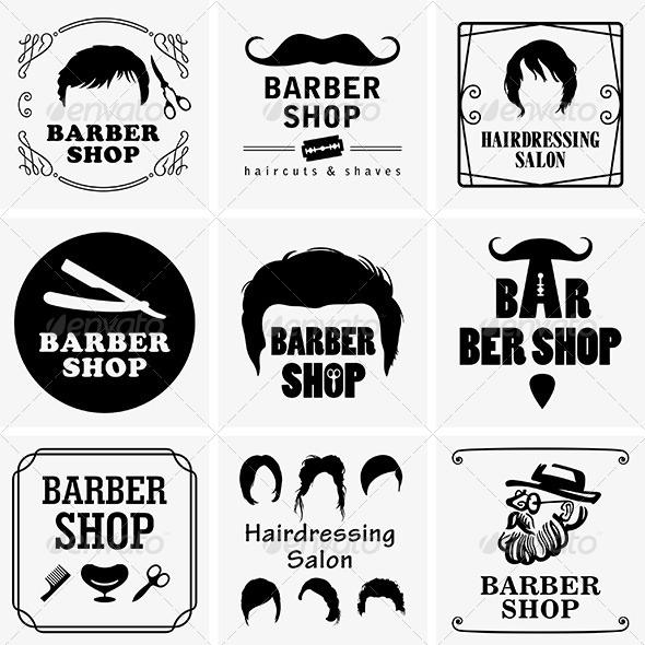 Barbershop Graphics - Decorative Symbols Decorative
