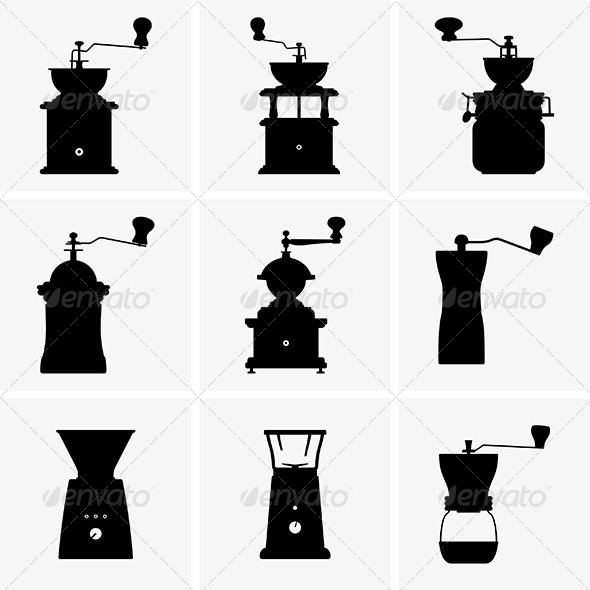 Coffee Mills - Man-made Objects Objects