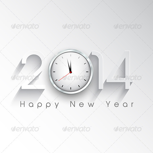 New Year Clock Background - New Year Seasons/Holidays