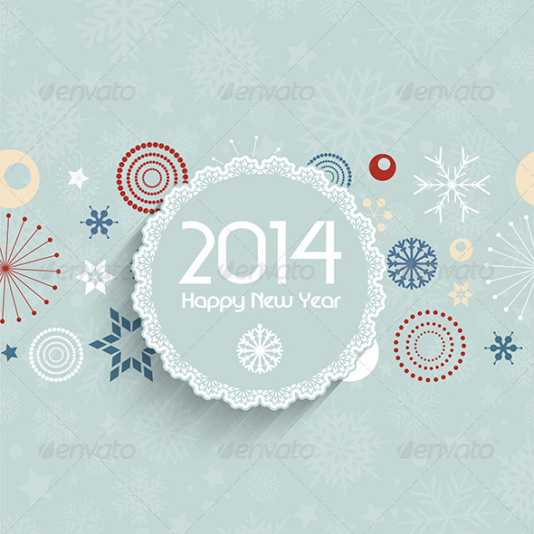 Retro New Year Background - New Year Seasons/Holidays