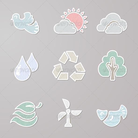 Sticker Nature Set - Nature Conceptual